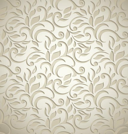 Elegant stylish abstract floral wallpaper