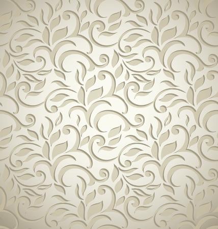 Elegante stijlvolle abstracte bloemetjesbehang