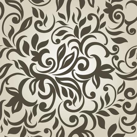Stilvolle moderne abstrakte Hintergrund mit floralen nahtlose Muster Standard-Bild - 30029947