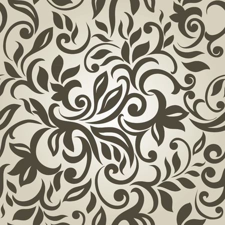 Stylish Modern Abstract background with floral seamless pattern