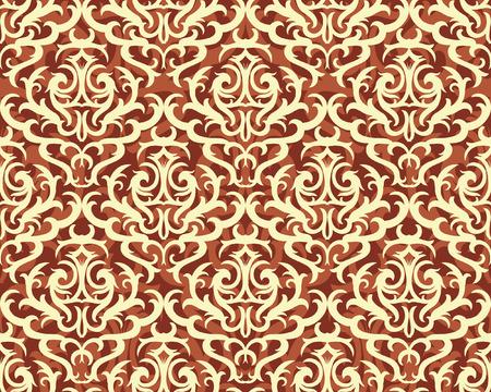 Papel pintado del damasco del vintage, Diseño de portada Foto de archivo - 30995384