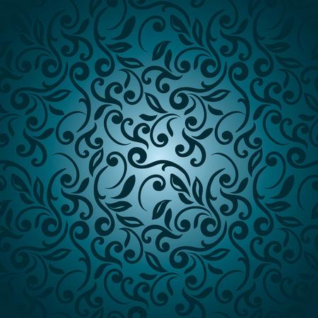 Naadloze abstracte bloemmotief, blauw stijl
