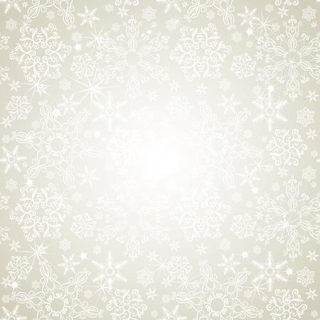 Naadloze zilveren sneeuwvlokken achtergrond