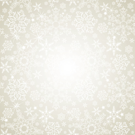 Seamless silver snowflakes background Vector