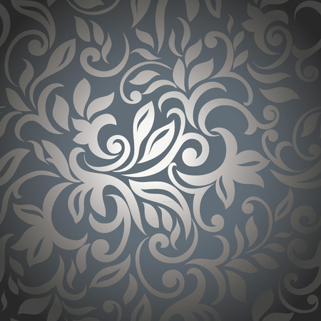 Elegant silver abstract floral background