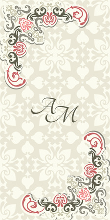 Vintage achtergrond, wenskaart, uitnodiging met kant ornament, abstract bloemenpatroon sjabloon voor het ontwerp