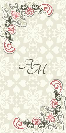 Weinlesehintergrund, Grußkarte, Einladung mit Spitze Ornament abstrakten Blumenmuster Design-Vorlage für Standard-Bild - 30995403