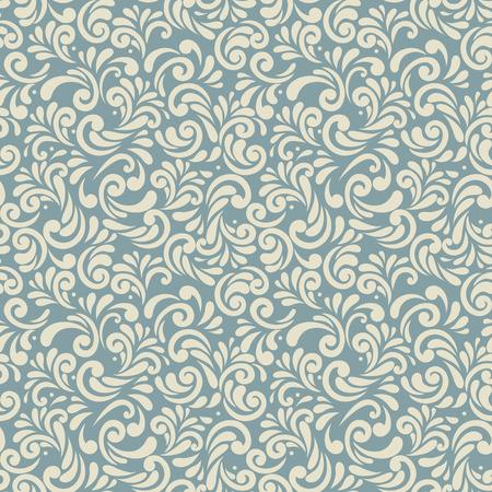 акцент: Бесшовные фон ретро-синего цвета, абстрактные цветочные шаблон для дизайна