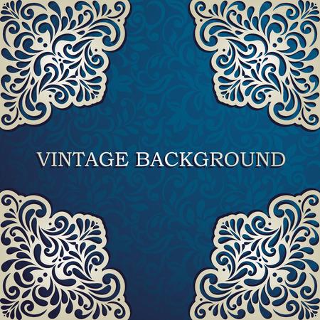 cartoline vittoriane: Vintage sfondo con angoli di pizzo, carta, invito, copertina dell'album