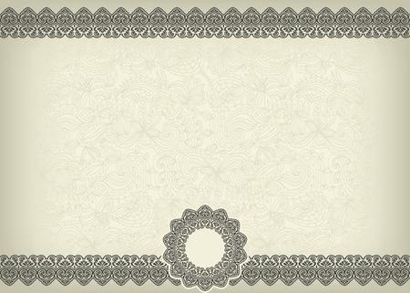 Elegant Classic Certificate Blank Illusztráció