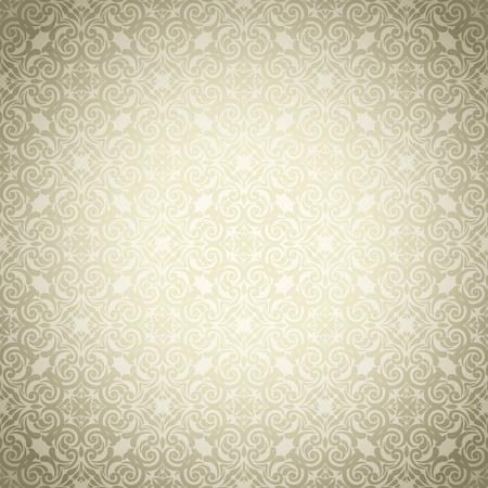 Jahrgang goldenen Hintergrund, Ornamental pattern Standard-Bild - 37585745