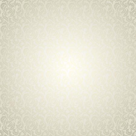 Luxe licht bloemenbehang