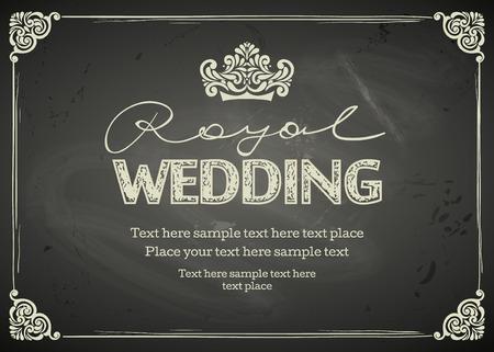 Vintage Wedding frames and border. Easy to use. Chalkboard design