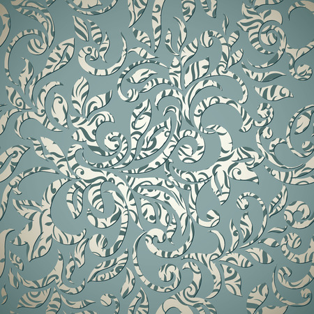 elegant wallpaper: Elegant stylish abstract floral wallpaper. Seamless pattern