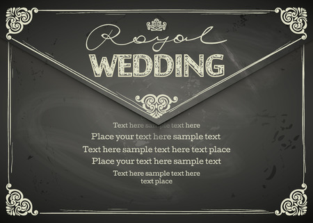 Vintage Wedding frames and border. Easy to use. Chalkboard design