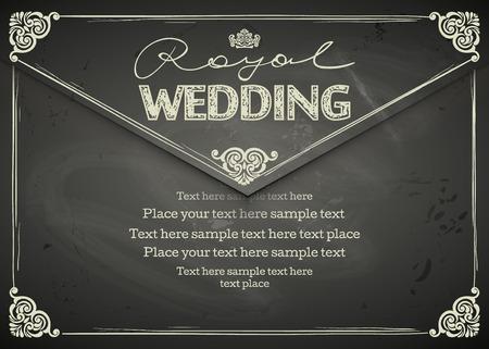 vintage backgrounds: Vintage Wedding frames and border. Easy to use. Chalkboard design