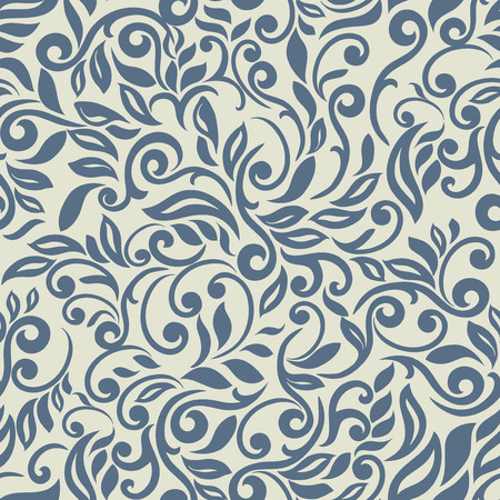 Luxury abstract floral pattern, Blue inspiration