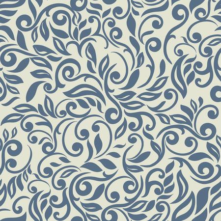 Luxe abstract bloemenpatroon, Blue inspiratie Stock Illustratie