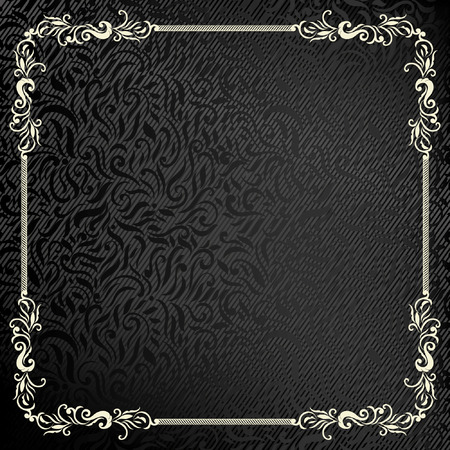 ornamental: Elegant Classic frame and background for Certificate of achievement. Easy to use. Illustration