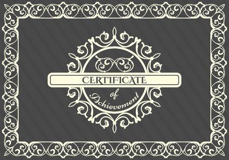 Vintage frame, logo design template. Vector frame, Retro card Vectores