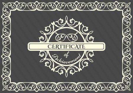 Vintage frame, logo design template. Vector frame, Retro card 向量圖像