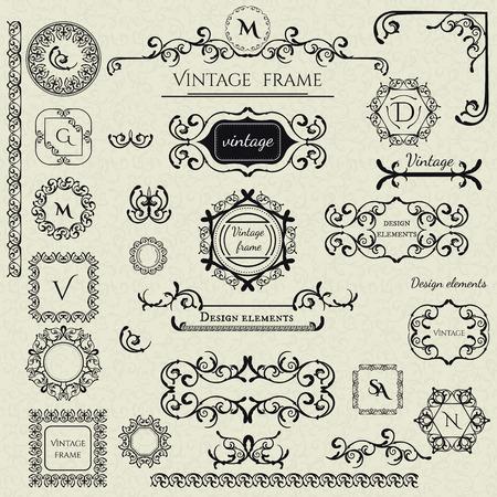 Royal Collection - 1 van Logo-sjablonen, Frames, Caligraphic elements, Borders, Corners, Monograms en anderen. Bedrijfsteken, identiteit voor Restaurant, Boutique, Koffie, Hotel enz. Vector