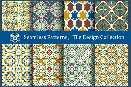 ceramic tiles: Vintage Tile designed Wallpapers Collection Illustration