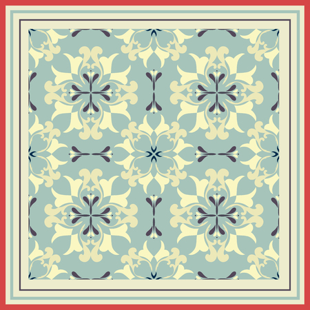 Tiles pattern with retro colored ceramic tiles.