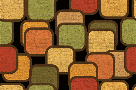 Seamless textured pattern with retro squears