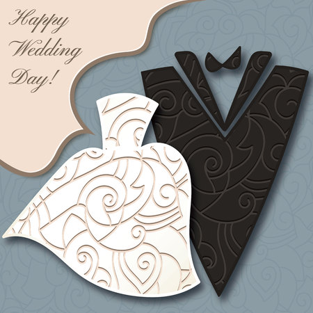 Wedding card, elegant style