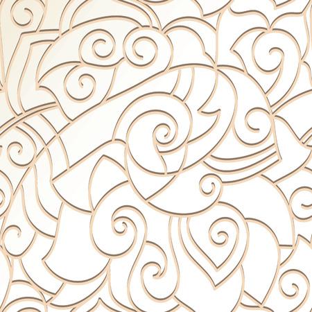 Elegant stylish abstract wallpaper. Seamless hand drawn pattern