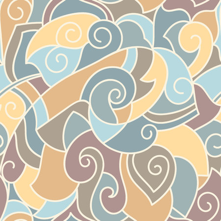 Abstract seamless hand drawn pattern, pastel colored. Cover design