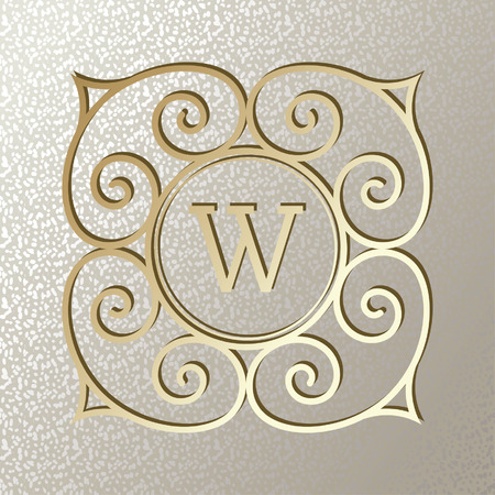 Elegant card with Vintage golden frame