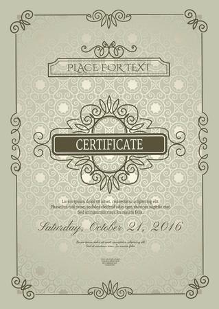 Classic Certificate of Achievement