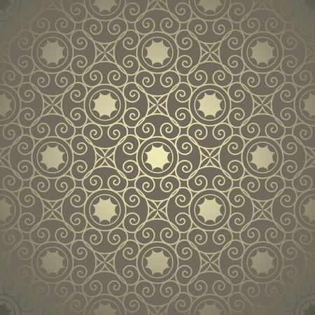 Ornamental golden background, seamless pattern. Illusztráció