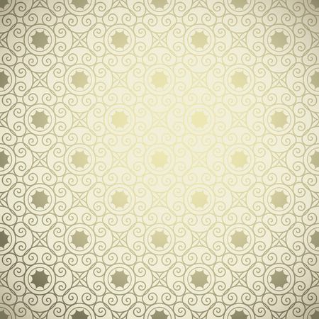 Vintage golden background, Ornamental pattern. Seamless