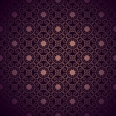 Vintage burgundy colored background, Ornamental pattern. Seamless Illusztráció
