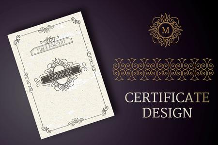 Luxury Certificate Design, Classic Template