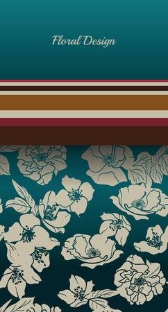 Card with floral pattern Illusztráció