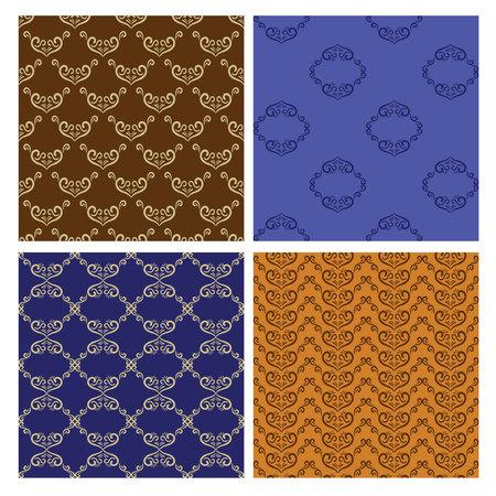 Set of 4 wallpapers Vectores