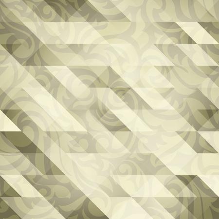 Luxe abstract transparante bloemen behang, met een driehoek structuur ontwerp: gouden palet Stock Illustratie