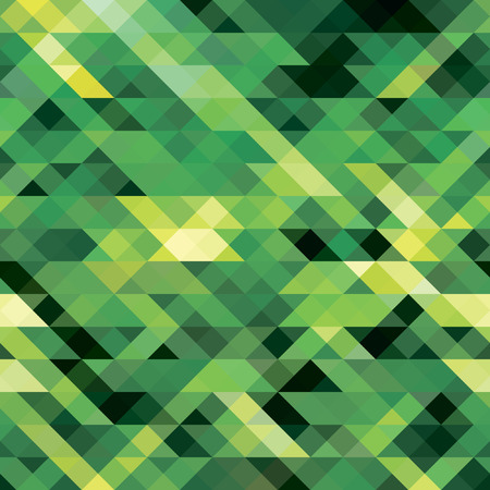 Seamless pattern of triangles in bright shades of green Vectores