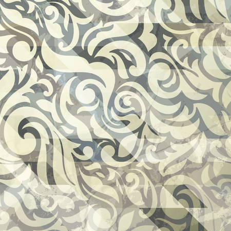 Luxury abstract golden floral wallpaper, with ornamental textured design. Transparent gold