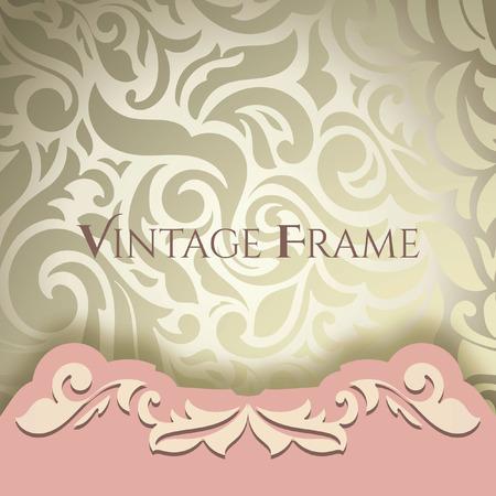 Vintage-Hintergrund, Grußkarten, Einladungen, abstrakten Blumenmuster Vorlage für Hochzeit. Goldene & Rosa Standard-Bild - 68431701