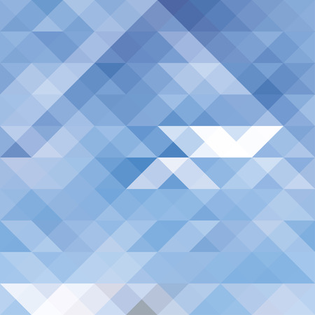 Seamless abstract pattern of Blue colored triangles