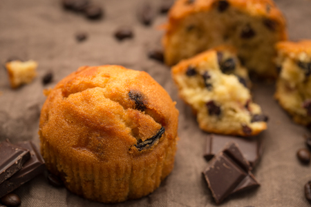 plumcake with chocolate