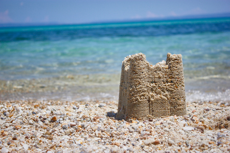 sandcastle at the sea 写真素材