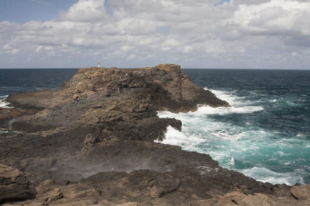 kiama: The Kiama Blowhole is a blowhole in the town of Kiama, New South Wales, Australia. It is the towns major tourist attraction.We stopped here for a couple hours while traveling through Kiama. To really see the Blowhole in action, you need to be here when t
