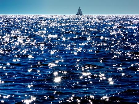 Boot op de horizon