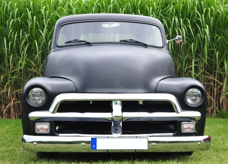 Classic Black US Car